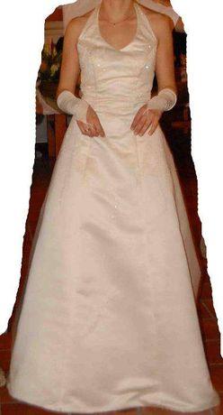 suknia ślubna ecru rozm. 38