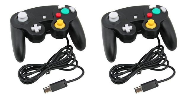 2 X BLACK WIRED Controlador Clássico Joipad para Nintendo NOVO