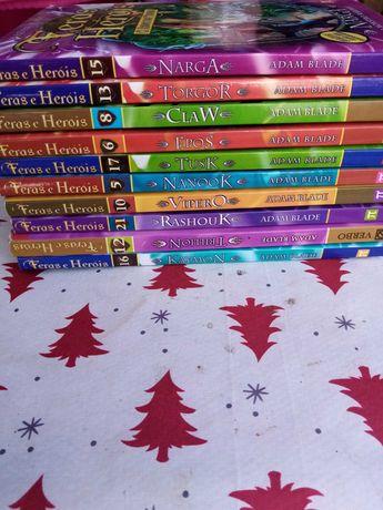 livros para criança  - Feras e heróis coleção