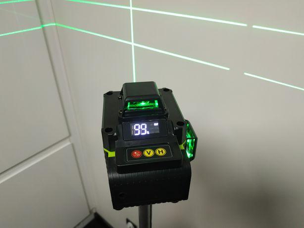 Nowy samopoziomujący laser krzyżowy HILDA 4d 12 linii pilot poziomnica