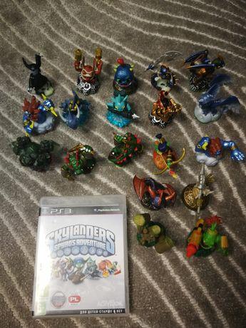 Gra PS3 Skylanders + 20 figurek+2 poziomy dodatkowe