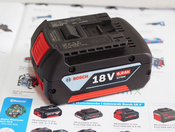 Akumulator BOSCH 18V 6Ah bateria wurth berner bti wkretarka klucz pila