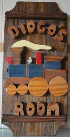 Acessório Mobília Quarto Escritório rústico em madeira