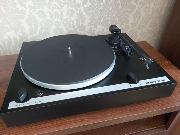 Gramofon Thorens TD 280 Ortofon OM10 Stan b.dobry Nowy pasek