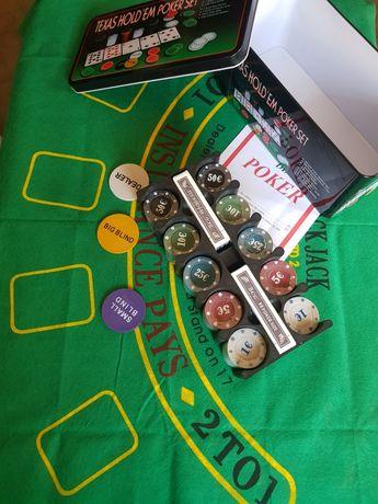 Игровой набор для игры в покер 200 фишек!