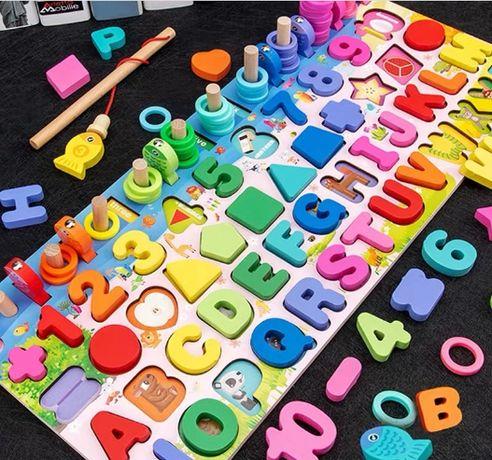 Детская развивающая игрушка доска Сортер пазл английский алфавит