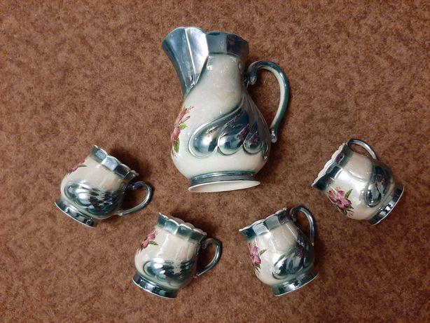 Кувшин и 4 чашки