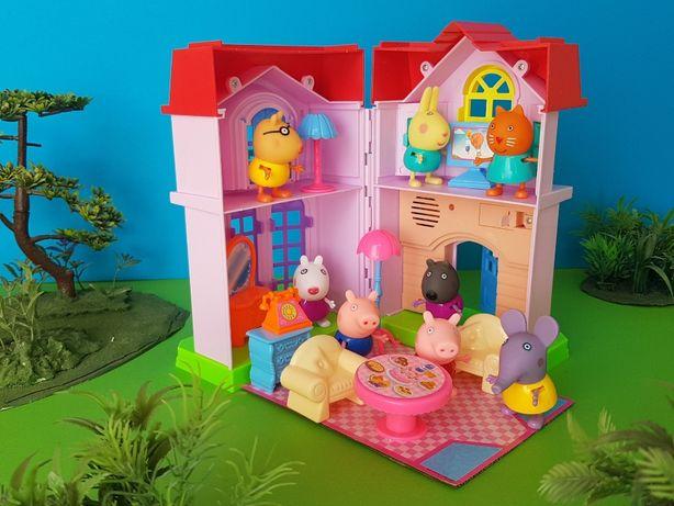 Игровой набор музыкальный Домик Свинки и ее друзей 8 персонажей мебель