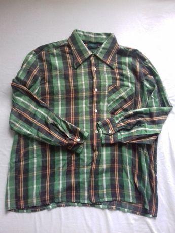 Zielona koszula w kratę oversize