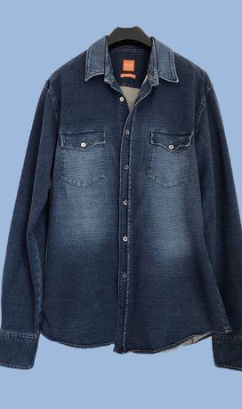 Джинсовая  хлопковая рубашка HUGO BOSS, m-l, 50-52. Tommy Lauren.