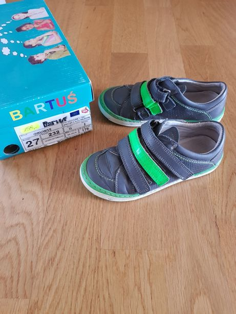 Buty Bartuś skórzane 27 chłopięce