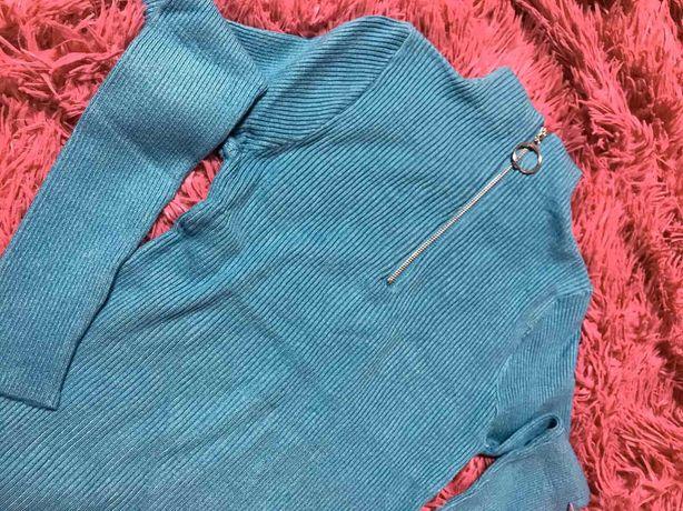 Гольф водолазка свитер в рубчик