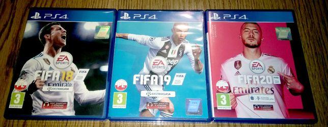 Zestaw gier PS4 FIFA 18 FIFA 19 PL