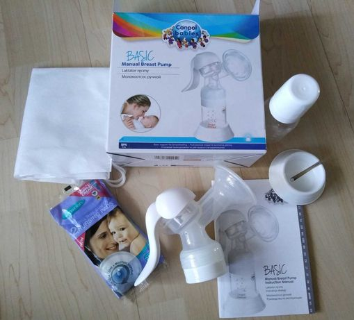Laktator ręczny Canpol Babies Basic manual breast pump, gratis ubranka
