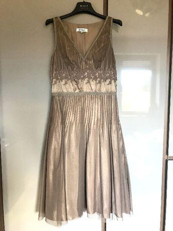 Brązowa sukienka, rozmiar 40