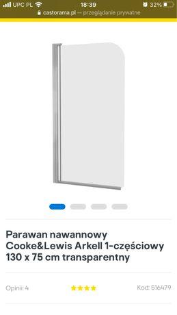 Parawan nawannowy/Szyba pod prysznic/ NOWA
