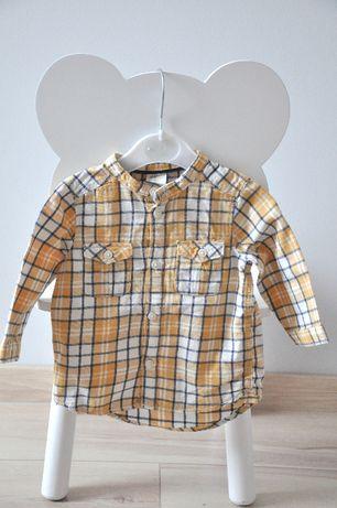 H&M koszula w kratkę długi rękaw ideał rozm. 68