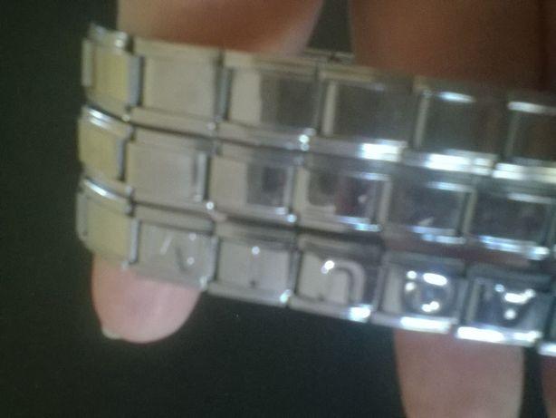 3 pulseiras em aço