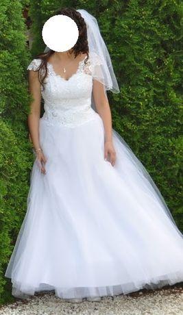 Suknia ślubna księżniczka piękna 38-40