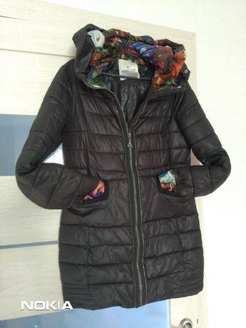Фирменная куртка MONCLER удлиненная весна-осень