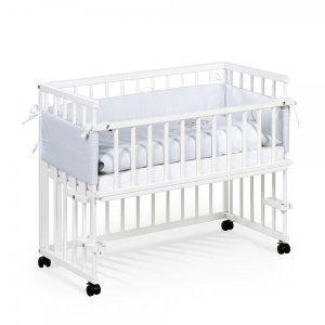 Nowe białe łóżeczko dostawne firmy Klupś,dostawka Piccolo Due