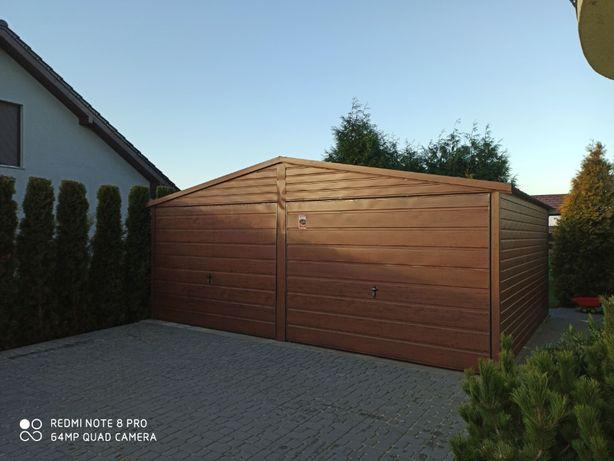 Garaż drewnopodobny 6x5, dwustanowiskowy, pytać o inne wymiary