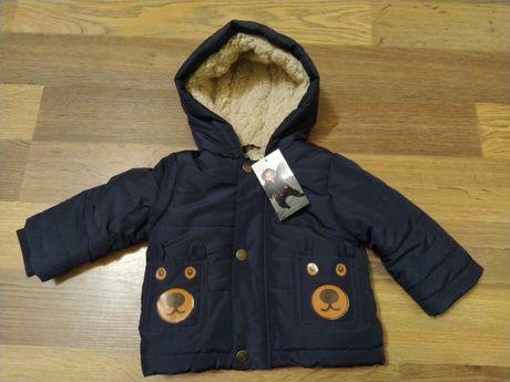 Новая немецкая куртка Poco Piano 62-68 см, с мехом