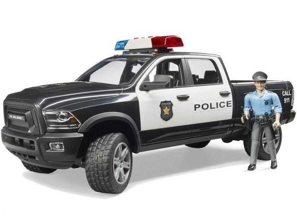 BRUDER 02505 Pick-Up Dodge Ram Policyjny z Figurką Policjanta