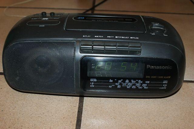 panasonic radiomagnetofon z zegarem
