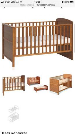 Кровать детская трансформер вместе с матрасом
