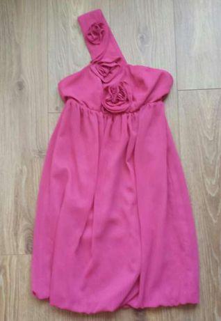 Sukienka różowa/fuksja firmy Vissavi r.36 róże
