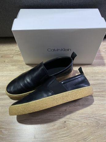 Calvin Klein слипоны кожанные 42