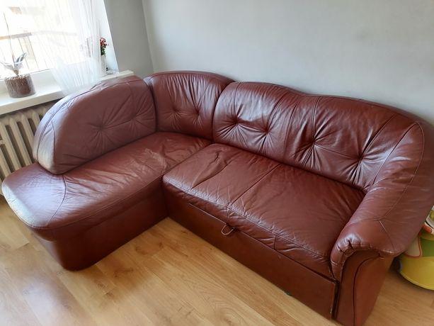 Skórzany narożnik + fotel