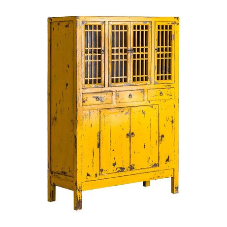 Armário Lacado Mostarda Vintage Oriental Closet-NOVO by OVO HOME