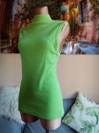 Bluzeczka prążkowana z półgolfem bez rękawów 100% bawełna r. S/M