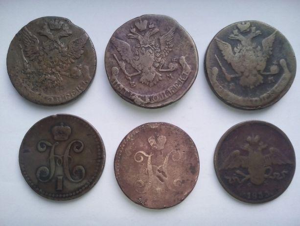 Продаю медную монету царской России 5 копеек 1770г.