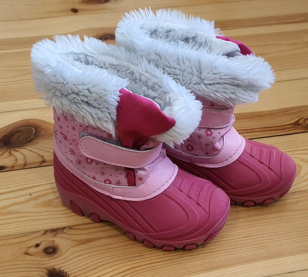 Śniegowce buty zimowe dla dziewczynki rozmiar 26 wkładka 15cm Lupilu