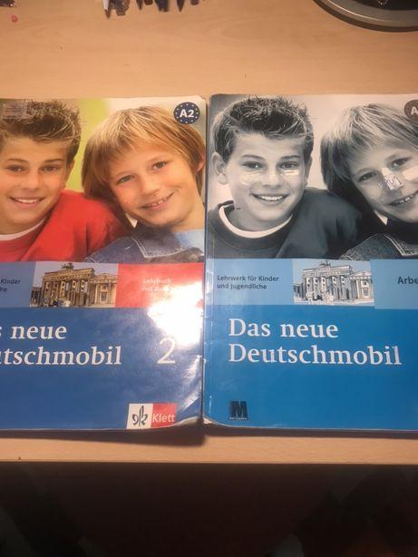 Учебник и раб. тетрадь по нем. языку с выполненными заданиями