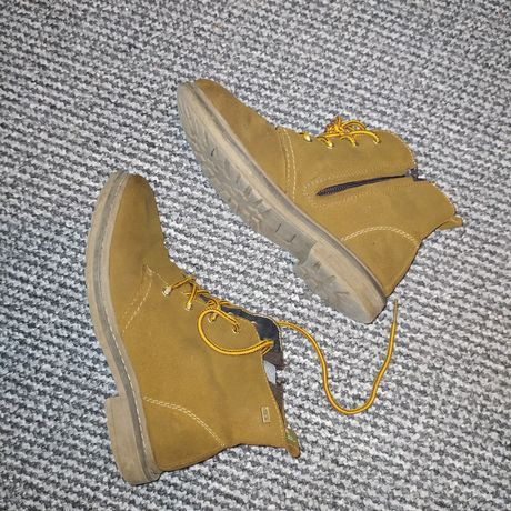 Ботинки ботиночки типа Timberland кожа замш