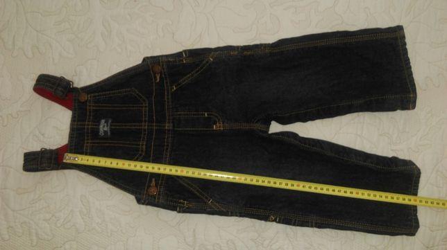 Брендовые детские джинсы с подтяжками 100% cotton.