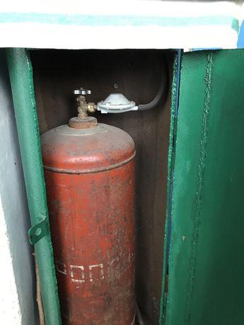 Газовый балон + таганок + редуктор + шкаф для балона