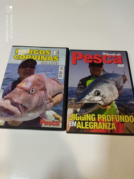 Dois DVDs de pesca