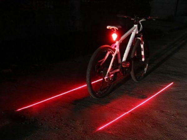 Задний вело габарит 5 LED с лазером на велосипед моргалка фонарь стоп