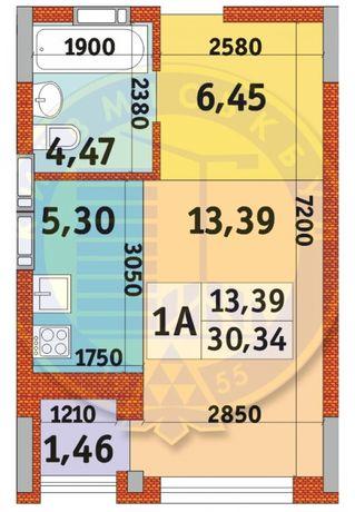 Квартира в Пуще Водице, 1к - 30.34м2 м.Оболонь!