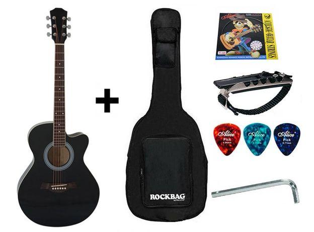 Гитара акустическая IRIN (Чехол+Капо+Медиатор+Ключ). СКИДКА -6%