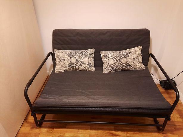 Sofá-cama cinza ikea