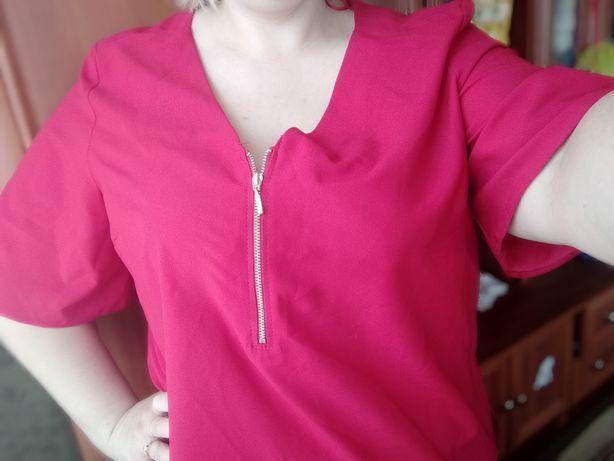 Блуза яркая свободного кроя