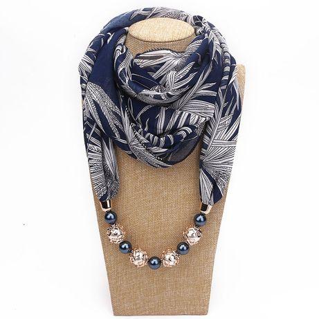 Стильный шарф Платок Жемчуг