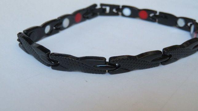 Bransoleta bransoletka magnetyczna wężyk kolor czarny