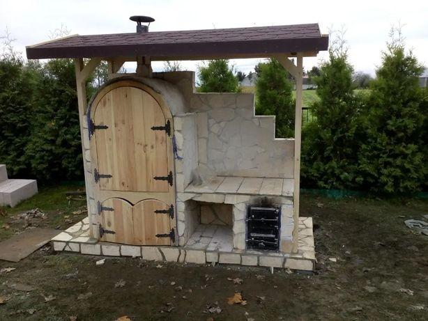 Grill ogrodowy wędzarnia kominek murowany